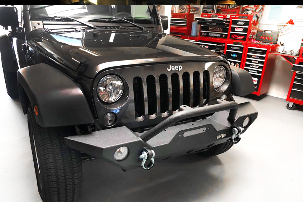 project jeep bumber install front