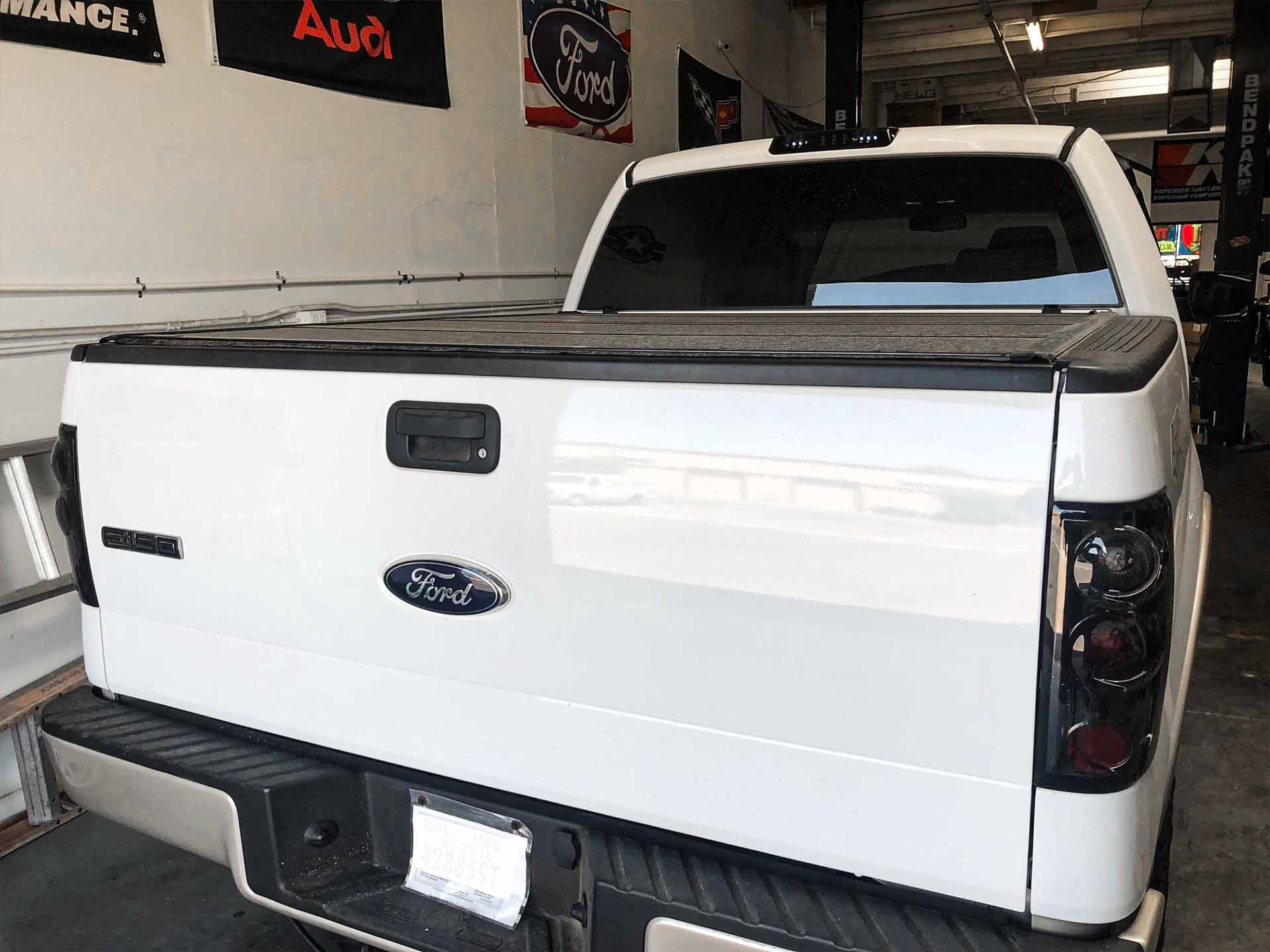 Ford F150 white grill light tint Taillights after