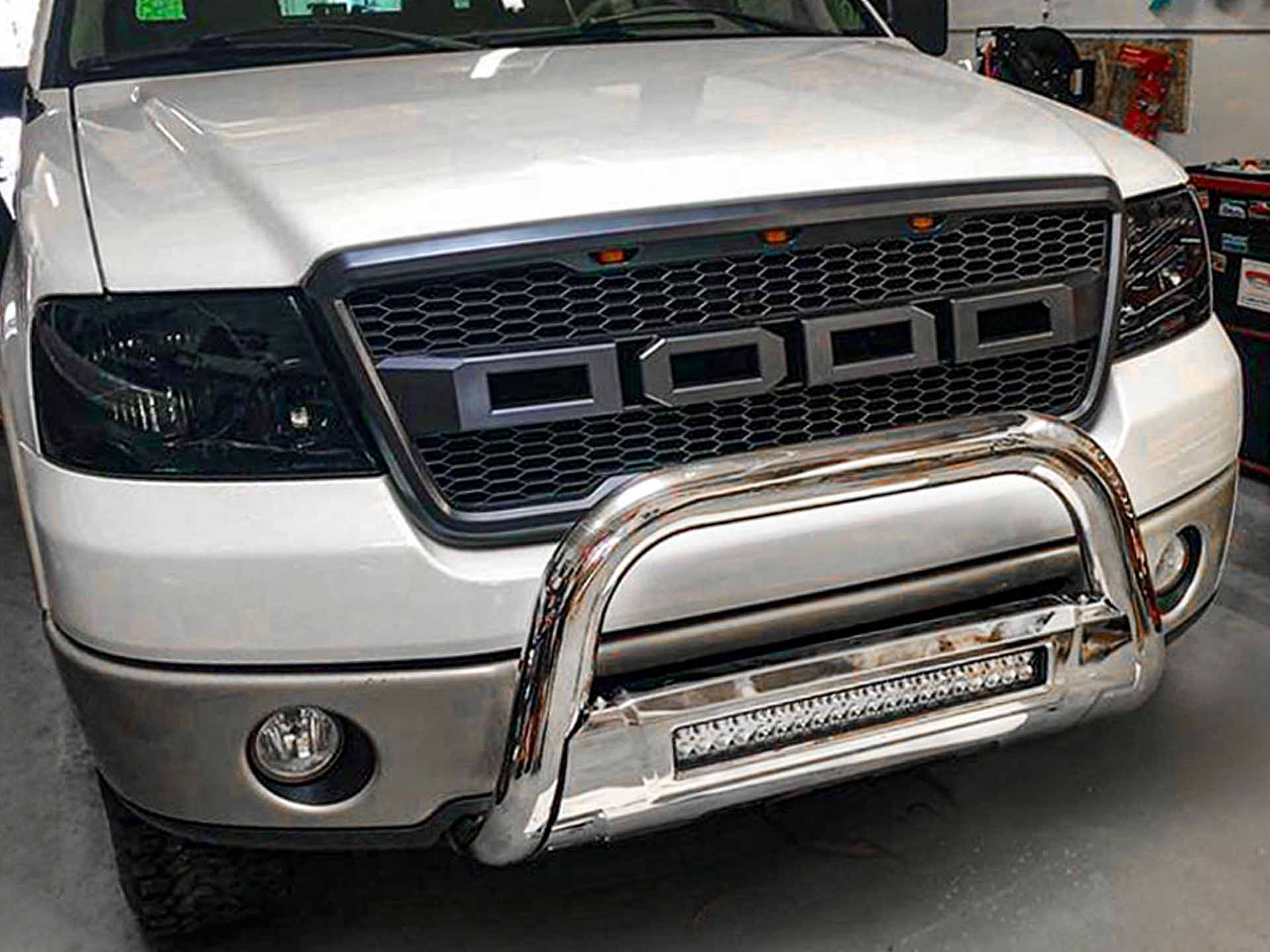 Ford F150 white grill light tint after
