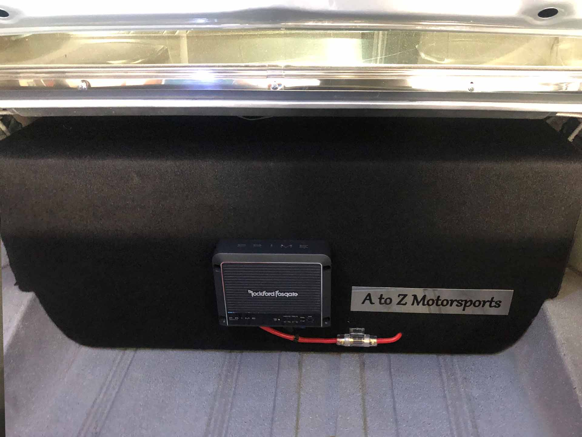 Chevy SS stereo box installed