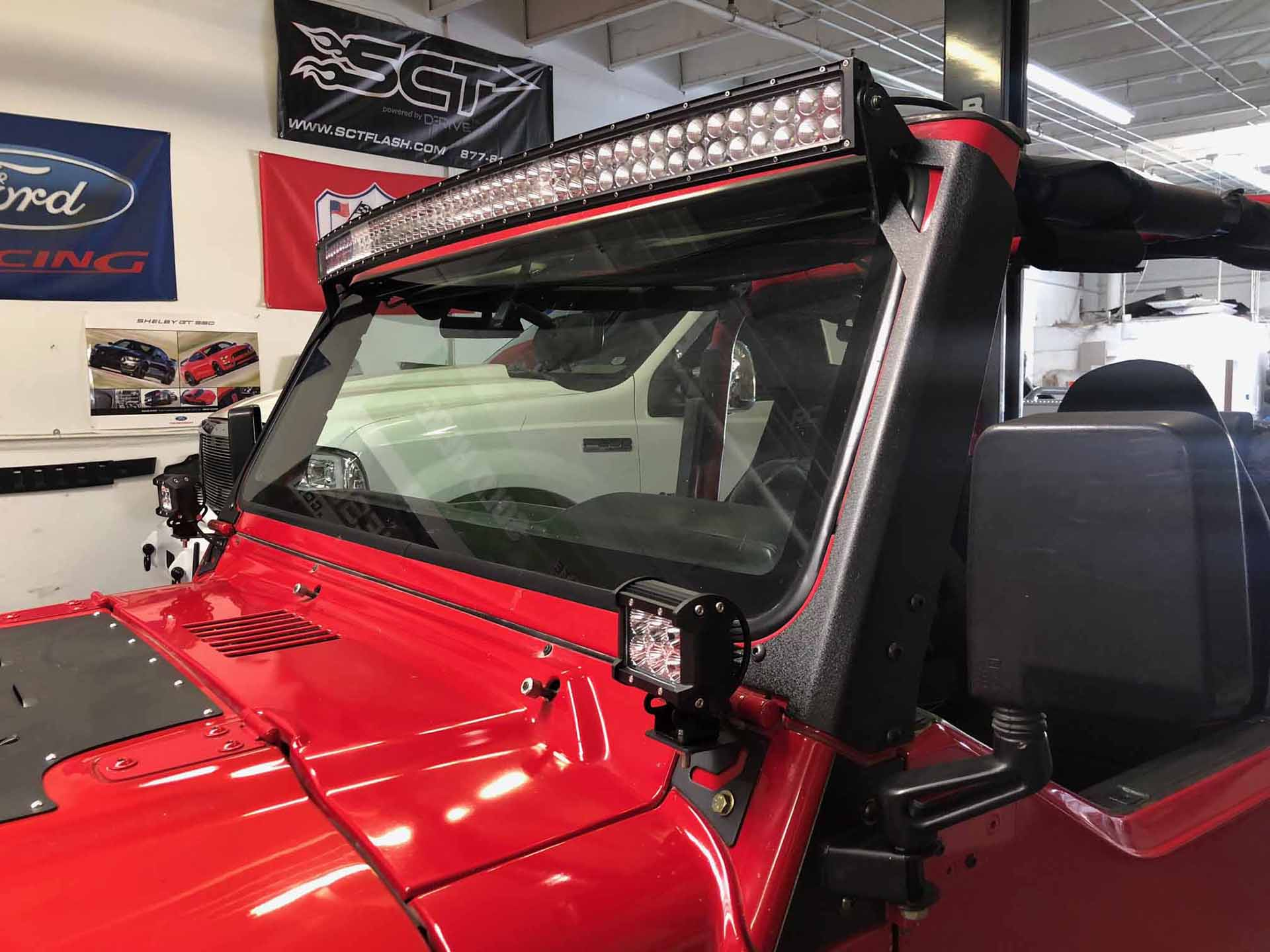 Jeep 2001 Red completed led lights